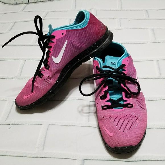timeless design b369f 3fc62 Nike Free TR Fit 4 Women s Pink Blue Black Shoes. M 5bb76a071b329418336f4247